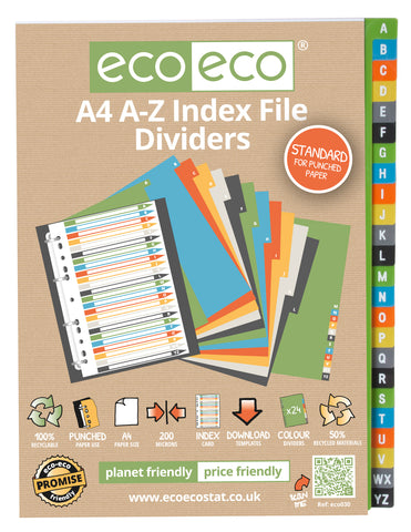 Dividers A4 Standard ECO - Set x 24 A-Z
