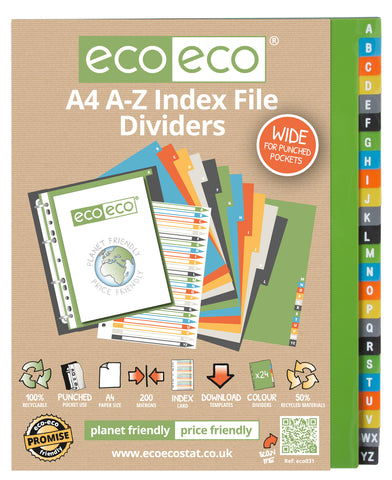 Dividers A4 Wide ECO - Set x 24 A-Z