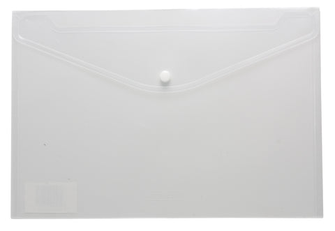 Plastic Envelope File With Button A4 ECO - White