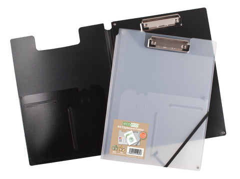 Foldover Clipboard A4 ECO - Black/Clear