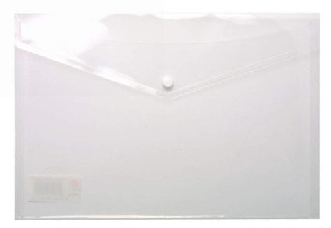 Plastic Envelope File With Button A3 ECO - White