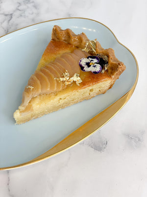 Load image into Gallery viewer, Almond Pear Tart Slice