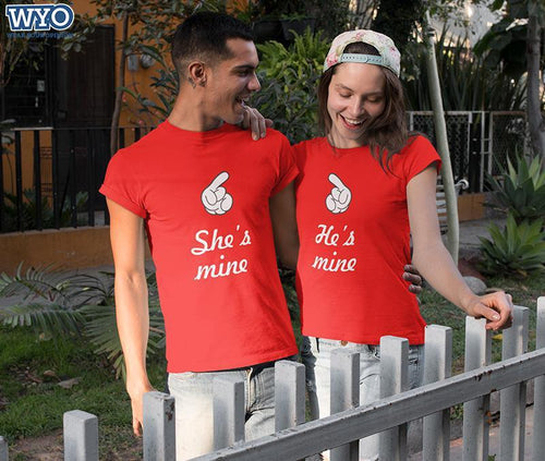 He Is Mine And She Is Mine Couple Tees
