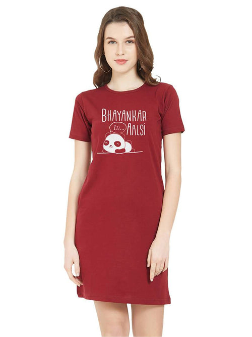 Aalsi Panda Women T-Shirt Dress