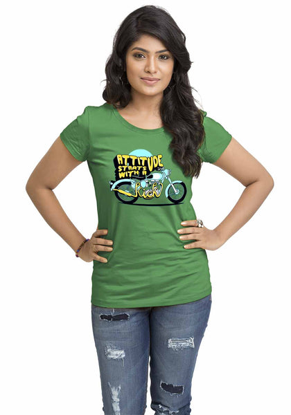 Attitude Starts With A Kick Women'S TShirt - Wear Your Opinion - WYO.in  - 3