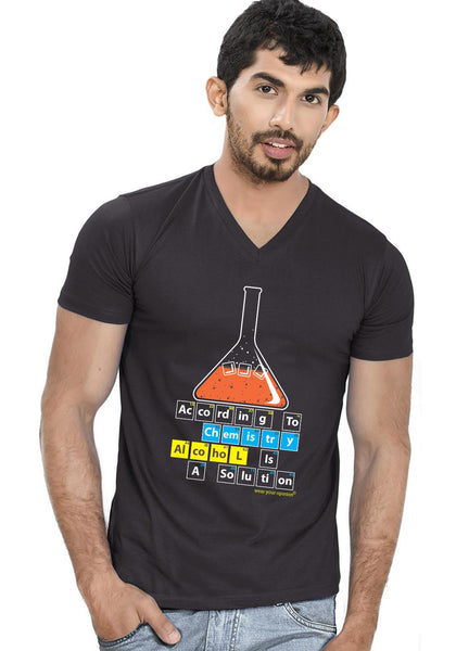 Alcohol Is Solution V Neck T-shirt