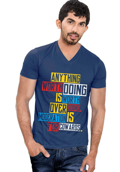 Anything Doing V Neck T-Shirt - Wear Your Opinion - WYO.in  - 1