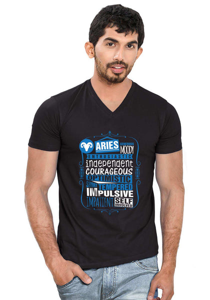 Aries V Neck T-Shirt