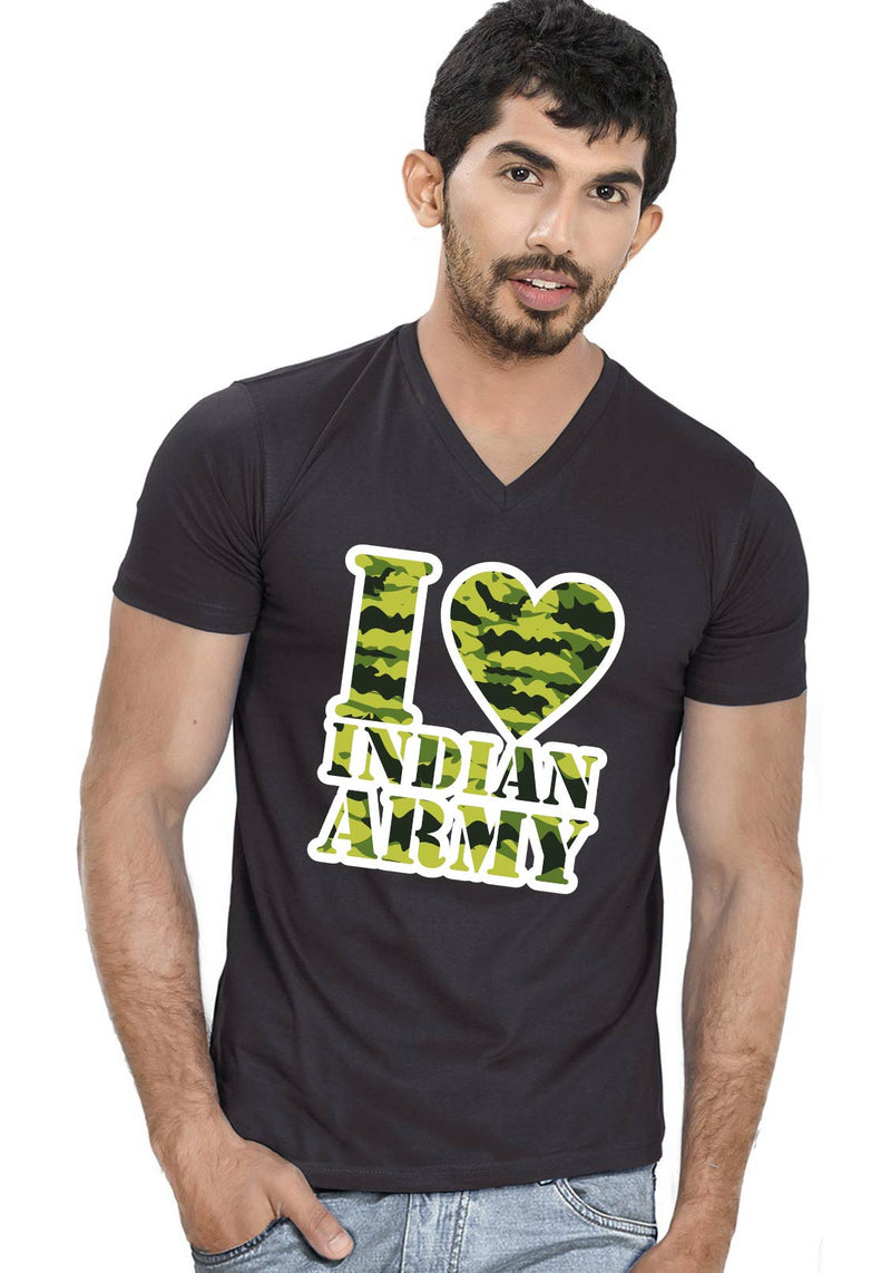Army Love V Neck T-Shirt