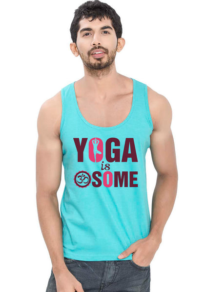 Awesome Yoga Sleeveless T-Shirt - Wear Your Opinion - WYO.in  - 1