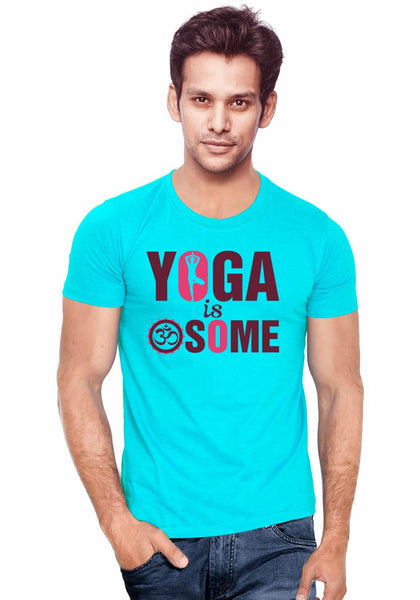 Awesome Yoga T-Shirt - Wear Your Opinion - WYO.in  - 1