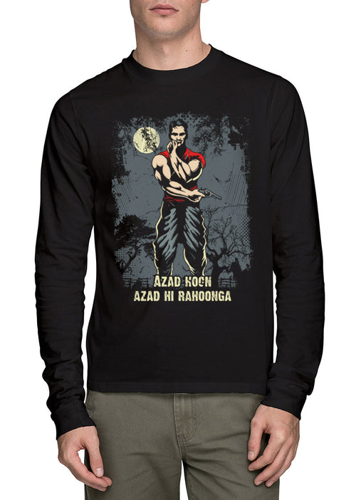 Azad Hoon Mens Full Sleeve T-Shirt - Wear Your Opinion - WYO.in  - 1