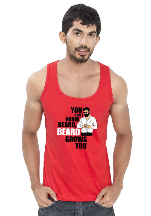 Beard Grows Sleeveless T-Shirt