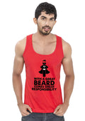 Beard Responsibility Sleeveless T-shirt