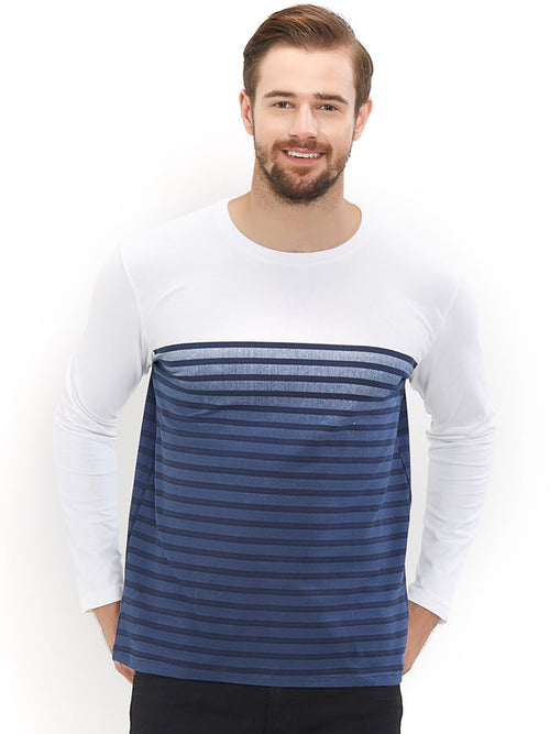 Blue Stripe White Full Sleeves