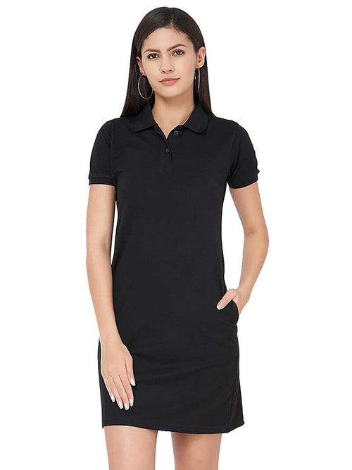 Polo Dress - Black