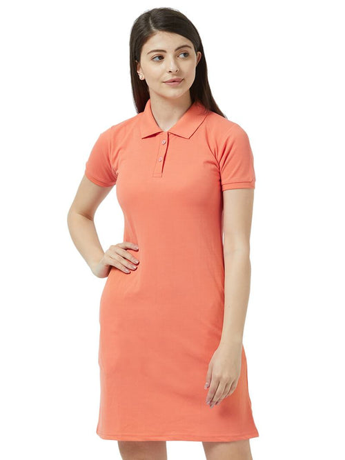 Polo Dress - Carrot