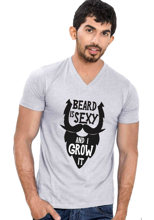 Beard Is Sexy V Neck T-shirt