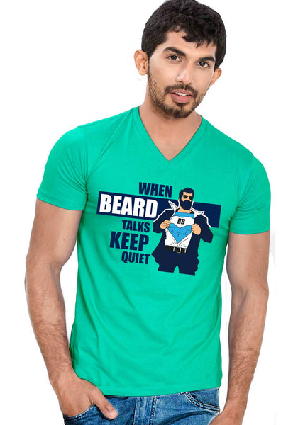 Beard Talks V Neck T-shirt