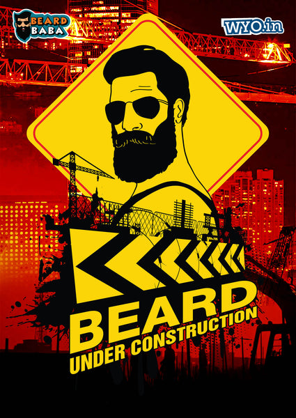 Beard Construction Poster