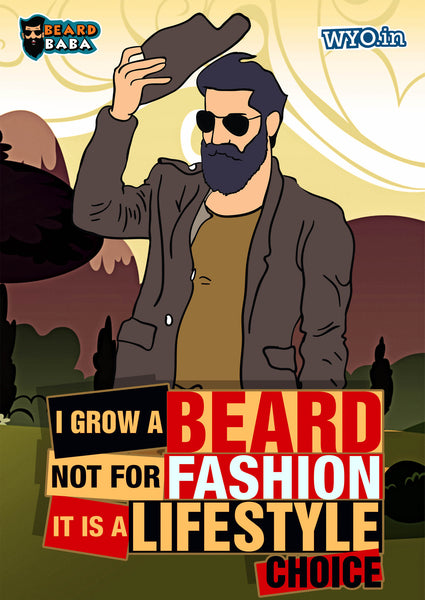 Beard Fashion Poster