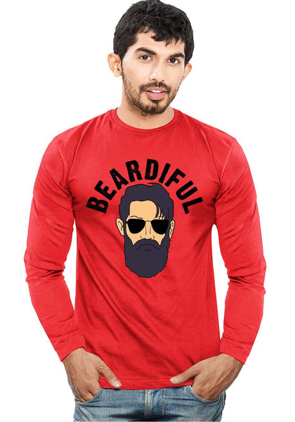 Beardiful Full Sleeve T-Shirt - Wear Your Opinion - WYO.in  - 3