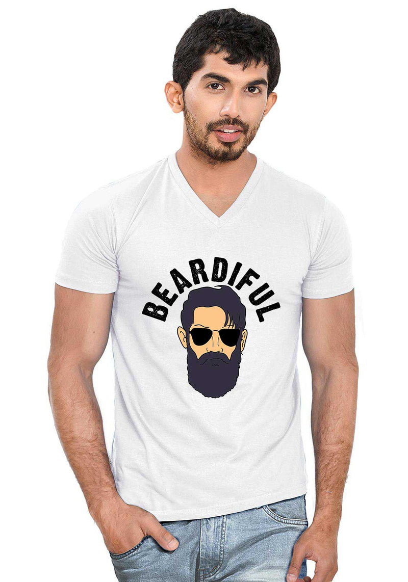 Beardiful V Neck T-Shirt - Wear Your Opinion - WYO.in  - 6