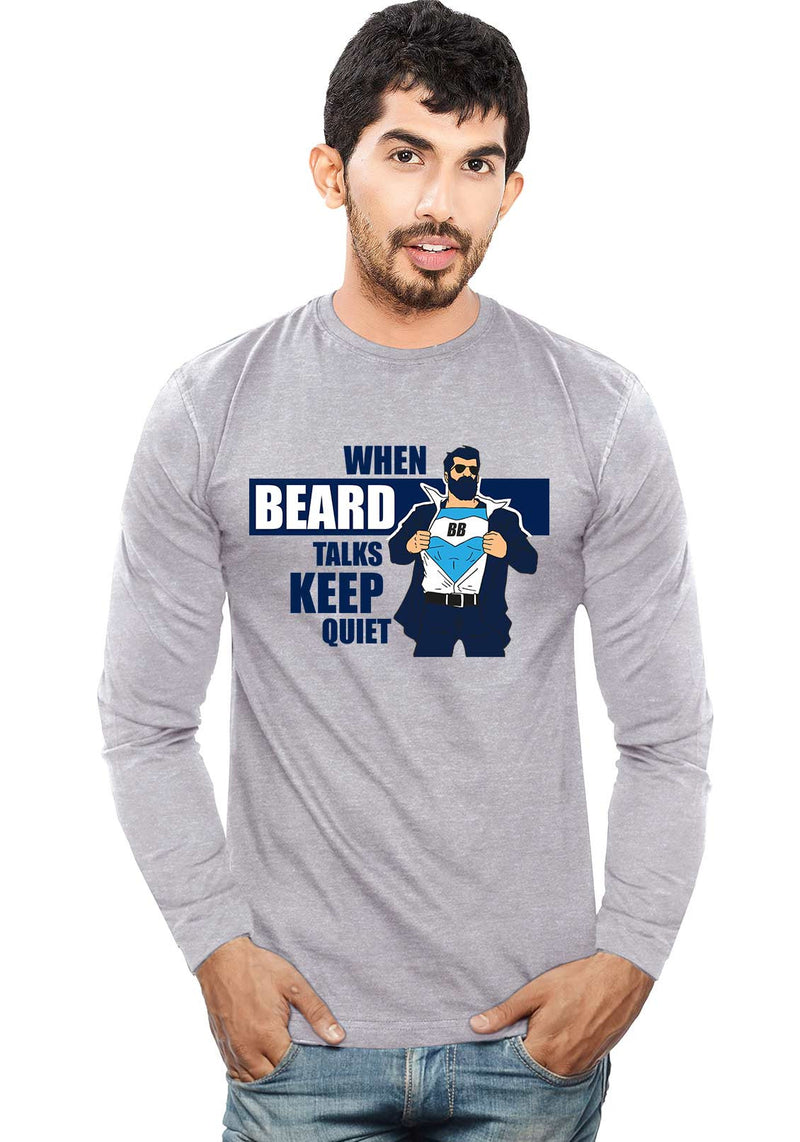 Beards Talks - Full Sleeve - Wear Your Opinion - WYO.in  - 1