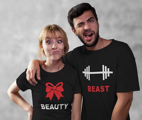 Beauty And Beast Couple Tees