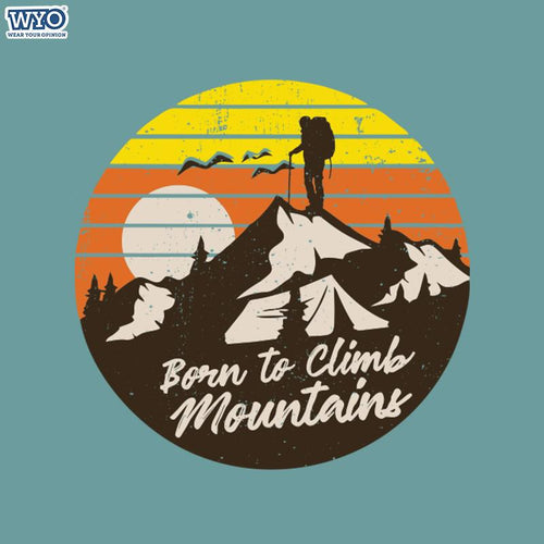 Born To Climb Women Tshirt