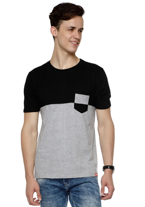 CB GreyM | Black Pocket T-Shirt