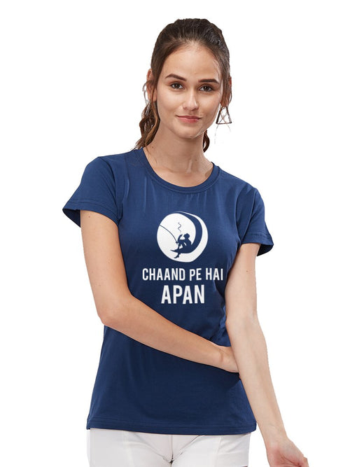 Chand Pe Hai Women Tshirt