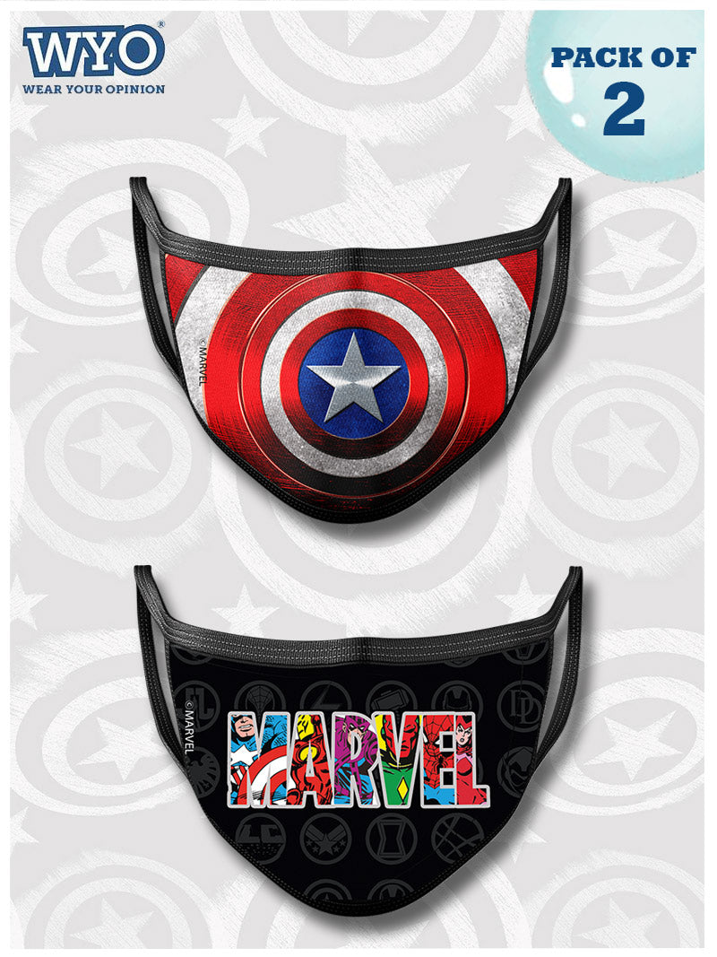 Reusable Captain America and Marvel Mask MD1