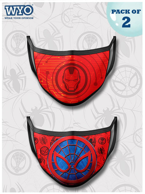 Reusable Ironman Spiderman Mask MD3