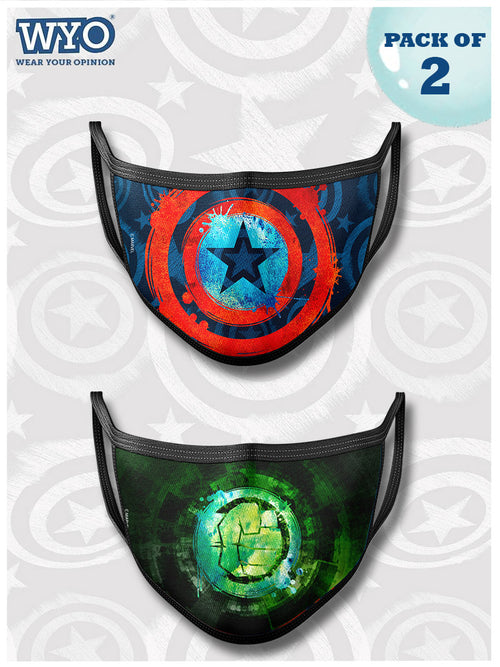 Reusable Captain America and Hulk Mask MD4