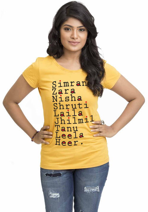 Simran Women TShirt - Wear Your Opinion - WYO.in  - 1