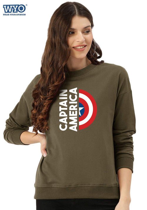 Captain America Shield - Women Sweatshirt