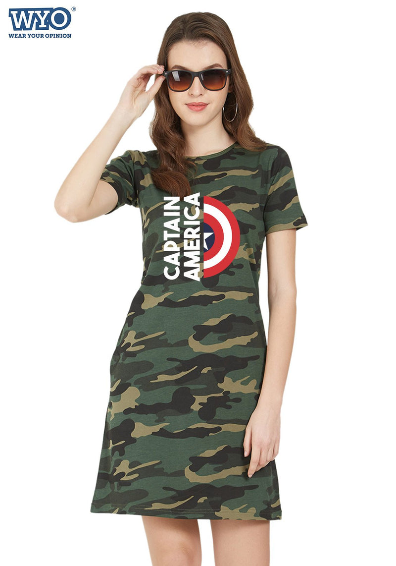 Captain America Shield Tshirt Dress