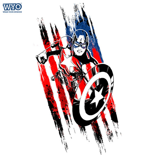 Captain America Charge T-Shirt