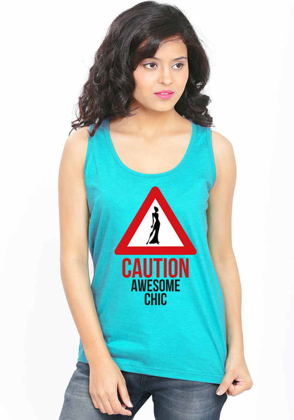 Awesome Chic Sleeveless T-Shirt - Wear Your Opinion - WYO.in  - 3