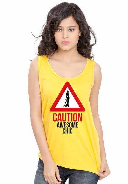 Awesome Chic Sleeveless T-Shirt - Wear Your Opinion - WYO.in  - 5