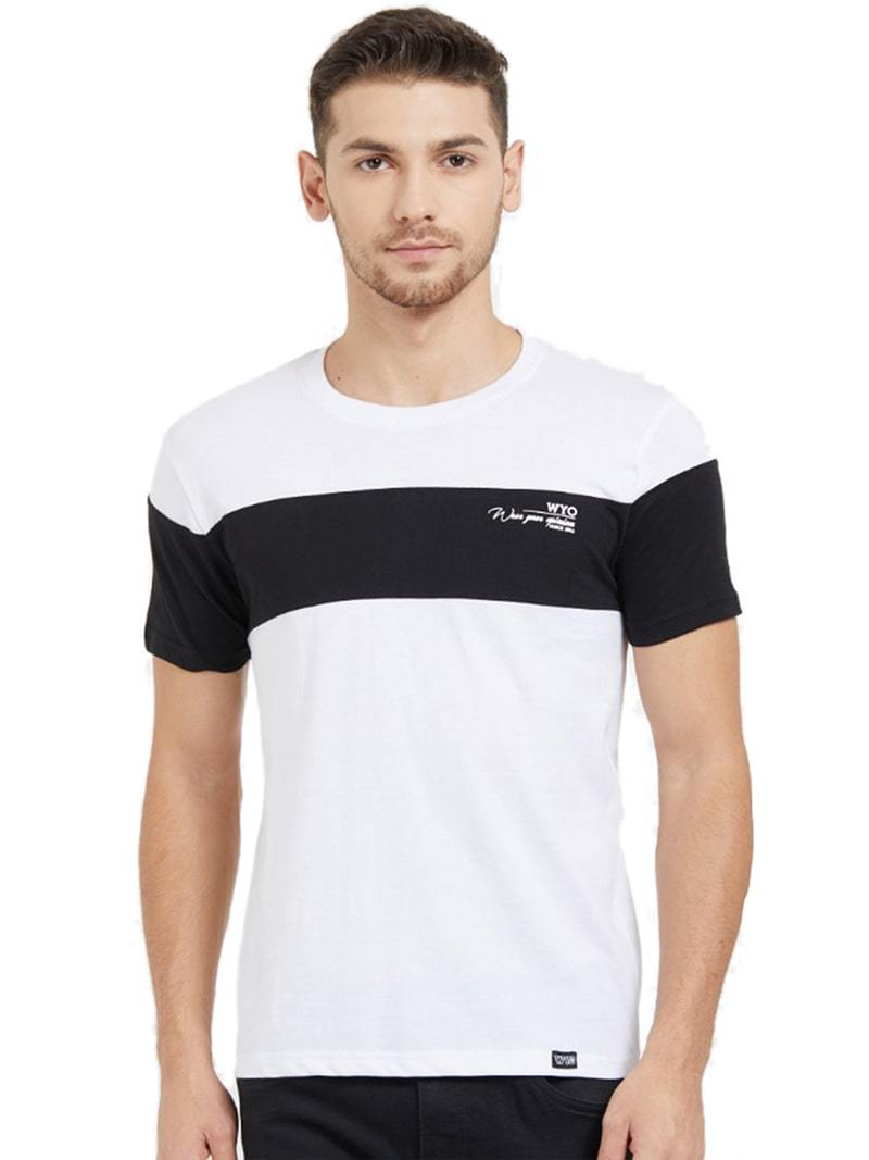 Colour Block Sleeve T-Shirt