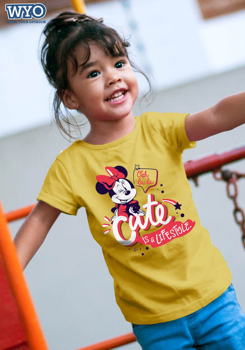 Cute Lifestyle Minnie Kids T-Shirt