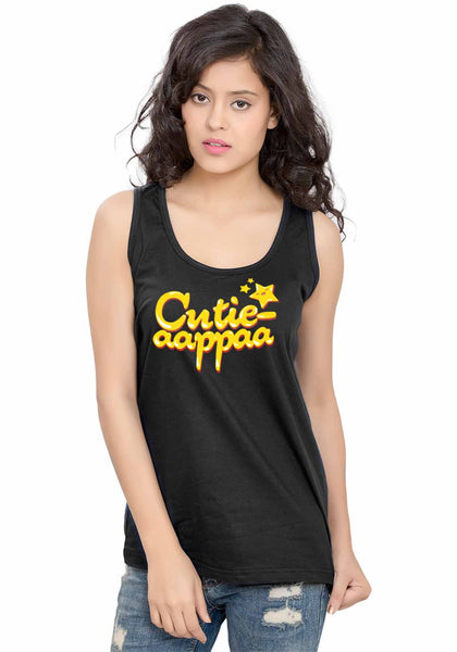 Cutie aappaa Sleeveless T-Shirt - Wear Your Opinion - WYO.in  - 3