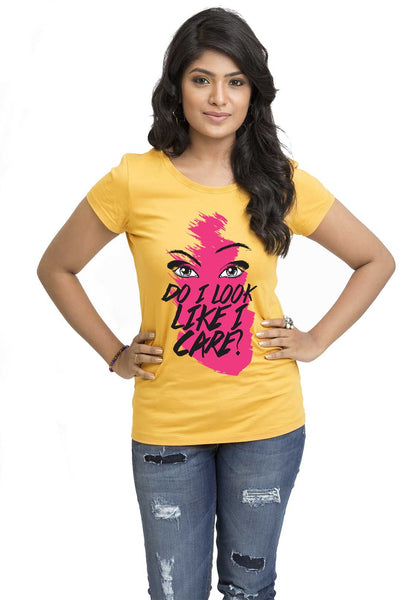 Do I Care Women TShirt - Wear Your Opinion - WYO.in  - 1