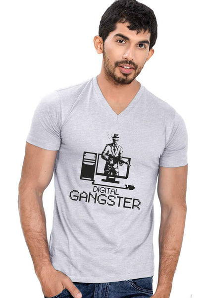 Digital Gangster V Neck T-Shirt