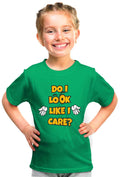 Do I Look Like I Care? Kid'S Tshirt - Wear Your Opinion - WYO.in  - 3