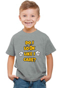 Do I Look Like I Care? Kid'S T-Shirt - Wear Your Opinion - WYO.in  - 2