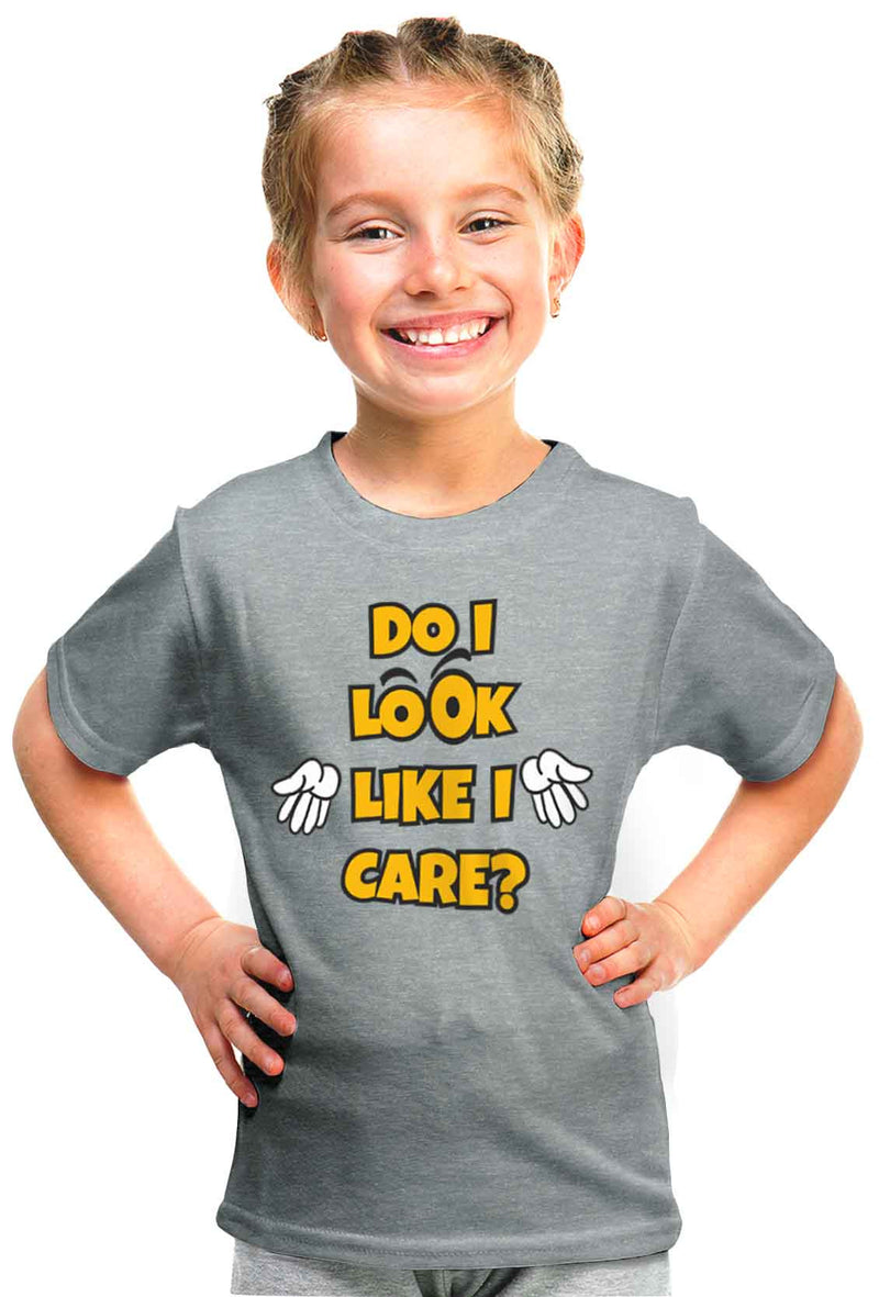 Do I Look Like I Care? Kid'S Tshirt - Wear Your Opinion - WYO.in  - 1
