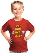 Do I Look Like I Care? Kid'S Tshirt - Wear Your Opinion - WYO.in  - 2